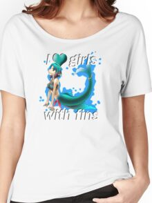 I <3 Girls With Fins - Mermaid Women's Relaxed Fit T-Shirt
