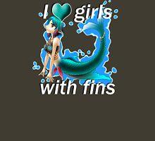 I <3 Girls With Fins - Mermaid Unisex T-Shirt