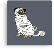 The Mummy Pug Return Canvas Print