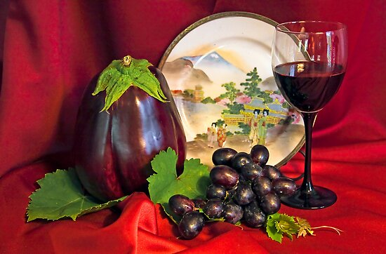 Eggplant Still Life by Heather Friedman