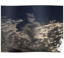 Exploding White Clouds Poster