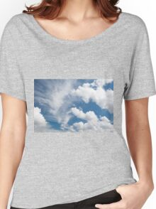 White cirrus and cumulus clouds Women's Relaxed Fit T-Shirt
