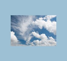 White cirrus and cumulus clouds Womens Fitted T-Shirt