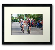 Dance over wheels Framed Print