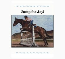 Jump for Joy!  Horse Jumper t-shirt by Patricia Barmatz