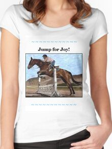 Jump for Joy!  Horse Jumper t-shirt Women's Fitted Scoop T-Shirt