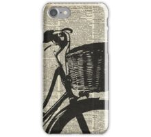 Vintage bicycle Dictionary Art iPhone Case/Skin
