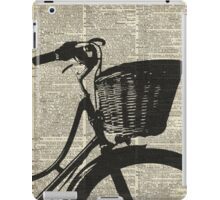 Vintage bicycle Dictionary Art iPad Case/Skin