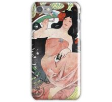 Alphonse Mucha - JOB rolling papers advertisement iPhone Case/Skin