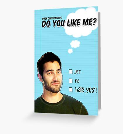 Derek Hale St Valentine's Day Card Greeting Card
