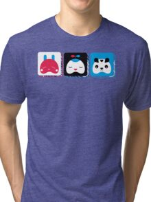 rabbit, kid and bear Tri-blend T-Shirt