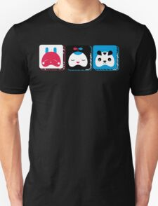 rabbit, kid and bear T-Shirt