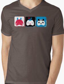 rabbit, kid and bear Mens V-Neck T-Shirt