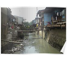 Shanty town Cebu City Philippines near SM Mall Poster