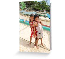 5 year old girls Filipinas Greeting Card