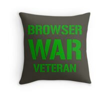 BROWSER WAR VETERAN - Green on Army Design for Web Developers Throw Pillow
