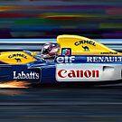 Nigel Mansell Willams by davidkyte
