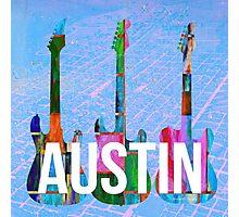 Austin Texas Guitars Photographic Print