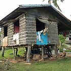 Filipino traditional hut on rough timper poles by Dave P