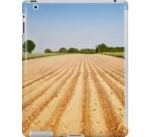 Ploughed agriculture field empty iPad Case/Skin