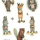Stickers Woodland animals by PaolaZakimi