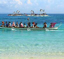 Boat parade Gibitngil Island, Cebu, Philippines by Dave P