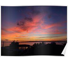 Sunset clouds over Gibitngil Island, Cebu, Philippines Poster