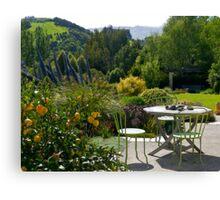 Garden, French Farm, Banks Peninsula, New Zealand. Canvas Print