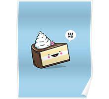 """Eat Me"" - Kawaii Alice in Wonderland Cake Poster"