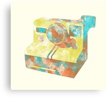 Polaroid ink Canvas Print