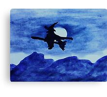 Witchy Moon, watercolor Canvas Print