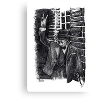 Winston Churchill's Victory Sign  Canvas Print
