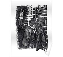 Winston Churchill's Victory Sign  Poster