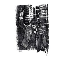 Winston Churchill's Victory Sign  Photographic Print