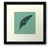 Arty feather Framed Print