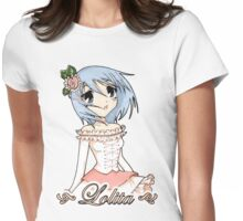 Blue Haired Lolita Womens Fitted T-Shirt