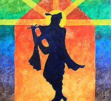 Krishna Silhouette  by Aditya Singh
