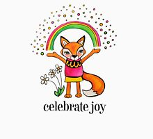 Celebrate Joy: Cute Fox Drawing Watercolor Illustration Womens Fitted T-Shirt