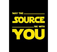 May The Source Be With You - Stars Wars Parody for Programmers Photographic Print