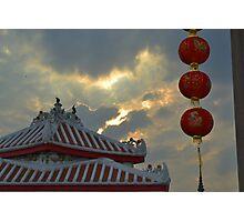 Chinese sunset Photographic Print