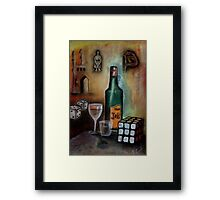Vice and virtue Framed Print