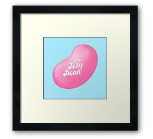 Jelly Belly Jelly Bean Design- Pink Framed Print