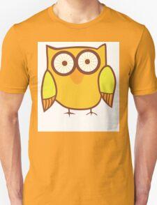 Cute Owl Orange Yellow Unisex T-Shirt