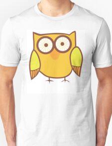 Cute Owl Orange Yellow T-Shirt