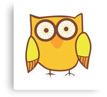 Cute Owl Orange Yellow Canvas Print