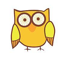 Cute Owl Orange Yellow Photographic Print