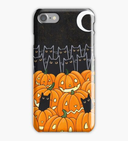 Black Cats & Jack-o-Lanterns iPhone Case/Skin