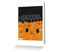 Black Cats & Jack-o-Lanterns Greeting Card