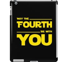 May The Fourth Be With You - Yellow/Dark Parody Design for Geeks iPad Case/Skin