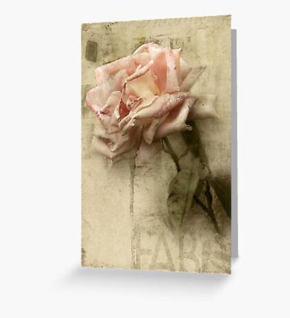 Fade Away Greeting Card
